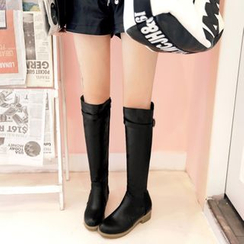 Pretty in Boots - Faux Leather Tall Boots