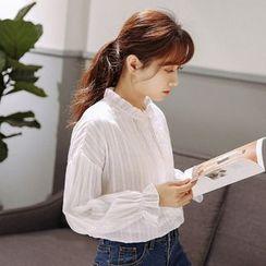 MePanda - 荷葉邊燈籠袖襯衫
