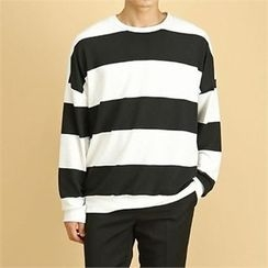 THE COVER - Round-Neck Color-Block Pullover
