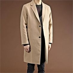 THE COVER - Notched-Lapel Wool Blend Coat