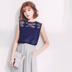 Tokyo Fashion - Lace-Panel Tank Top