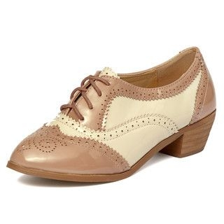 yeswalker - Two-Tone Patent Wingtip Oxfords