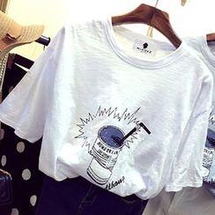 Rocho - Print Short-Sleeve T-Shirt