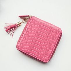 SUOAI - Tasseled Faux Leather Wallet