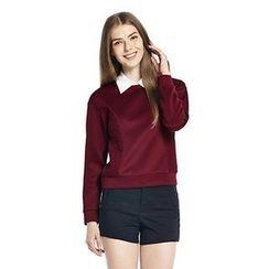 O.SA - Lace-Panel Pullover