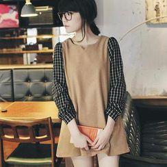 Tokyo Fashion - Plaid-Sleeve Dress