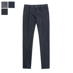 DANGOON - Mélange Check Tapered Dress Pants