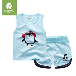 Endymion - Kids Set: Penguin Print Tank Top + Shorts