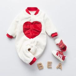 MOM Kiss - Baby Heart Fleece One Piece