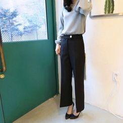Hello sweety - Straight-Cut Pants