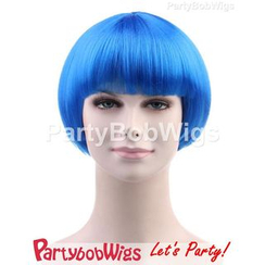 Party Wigs - PartyBobWigs - Party Short Bob Wig - Blue