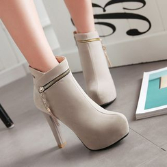 Sleeko - High-Heel Zipped Ankle Boots