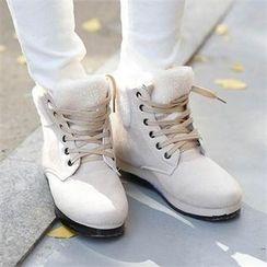 CHICFOX - Faux-Suede Fleece-Line Boots