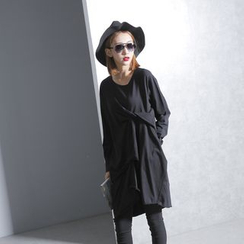 Sonne - Long-Sleeved Ruched T-Shirt Dress