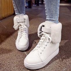 錦洋鞋業 - 繫帶短靴