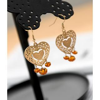 Petit et Belle - Heart Drop Earrings