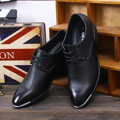 Hipsteria - Faux-Leather Brushed Dress Shoes