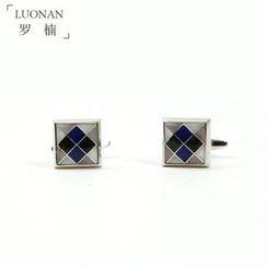 Luonan - 格紋袖扣