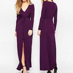 米兰阁 - 腰结带连衣长裙