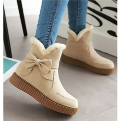 Freesia - Bow Accent Snow Boots