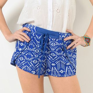 59 Seconds - Drawstring Pattern Shorts