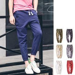 Chuoku - Drawstring Jogger Pants