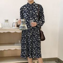 Cloud Nine - Floral Print Long-Sleeve Dress