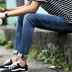 Recluso - 泼漆直筒牛仔裤