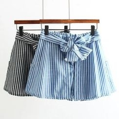 Nycto - Striped A-line Skort