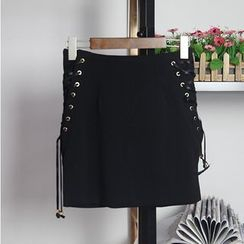 AIGIL - Lace Up Skirt