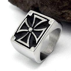 Andante - Cross Titanium Steel Ring