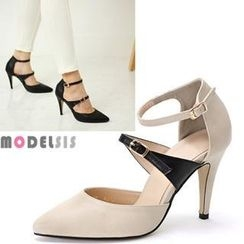 MODELSIS - Two-Tone Mary Jane Stiletto