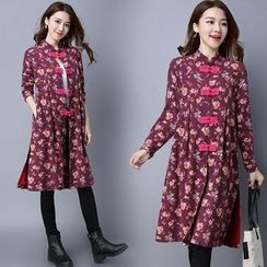 Diosa - Floral Long Jacket