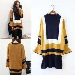 Sienne - Color Block Sweater Dress