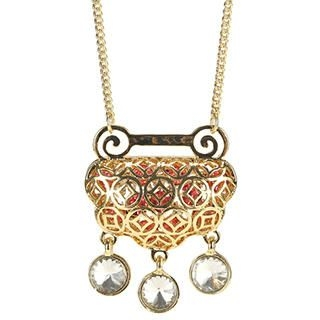 O.SA - Rhinestone Perforated Necklace