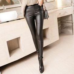 EFO - Faux-Leather Skinny Pants