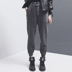 Sonne - Zipper Wool Pants