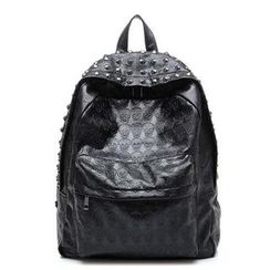 Auree - Faux-Leather Studded Backpack