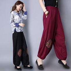 Ebbie - Embroidered Harem Pants