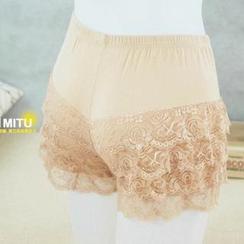 MITU - 薄款层层蕾丝安全裤