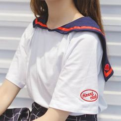 FancyMe - 短袖水手领T恤