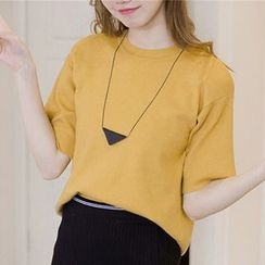 Honey House - Elbow-Sleeve Knit Top