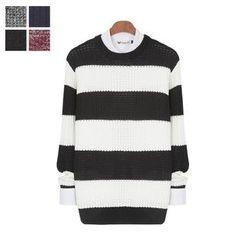DANGOON - Crew-Neck Stripe Sweater