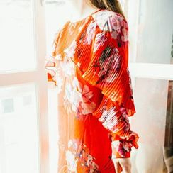 Amella - Long-Sleeve Floral Dress