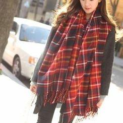 Cuteberry - 仿羊絨流蘇保暖圍巾
