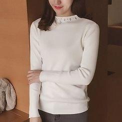 小谷粒 - 水钻针织套衫