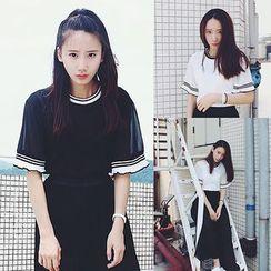 Melon Juice - 配色边短袖T恤
