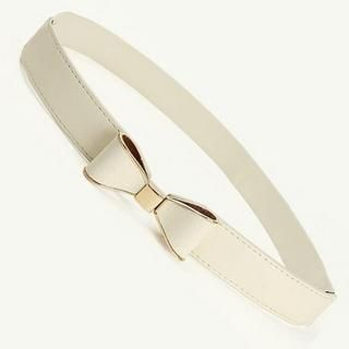 Cuteberry - Bow-Accent Elasticized Belt