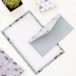Class 302 - Floral Print Letter Envelope Set