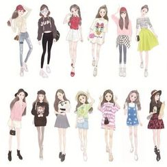 MissYou - Girl Diary Stickers